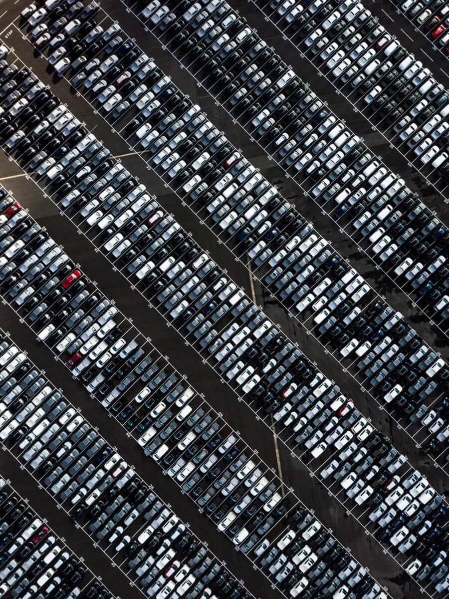 Full parking lot from above